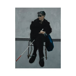 Blind Woman at a Photography Show (VPL)